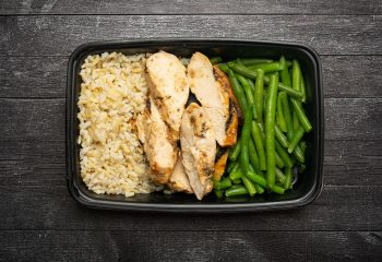 Cajun Chicken #2, Brown Rice, Green Beans
