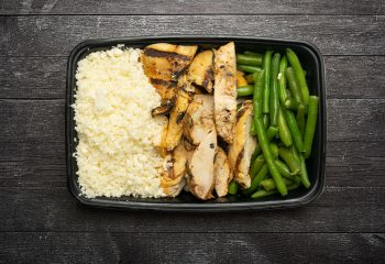 Cajun Chicken #3, Vegetable Rice Blend, Green Beans