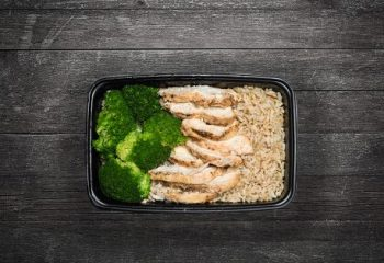 Char Grilled Chicken #2, Brown Rice, Broccoli