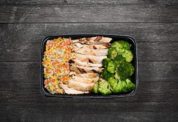 Char Grilled Chicken #3, Vegetable Rice Blend, Broccoli