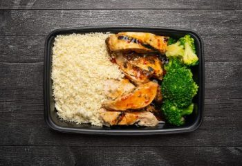 Sweet Chili Lime Chicken #3, Vegetable Rice Blend, Broccoli