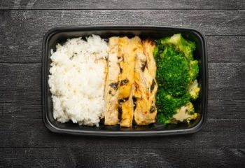 Sweet Chili Lime Chicken #1, Jasmine Rice, Broccoli