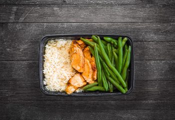 Chipotle Chicken #1, Jasmine Rice, Green Beans