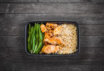 Chipotle Chicken #2, Brown Rice, Green Beans