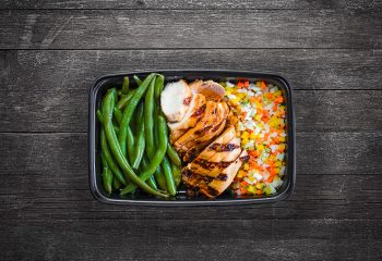 Chipotle Chicken #3, Vegetable Rice, Green Beans