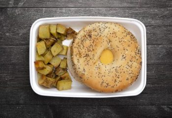 Vegan Sausage Egg and Cheese Sandwich with Rosemary Potatoes