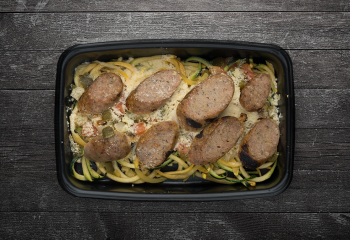 Chicken Sausage and Zoodles