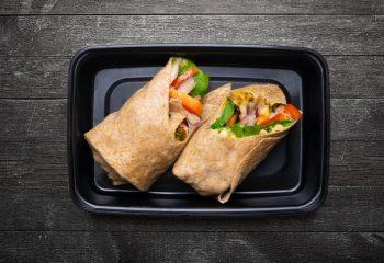 Vegan Veggie Hummus Wrap