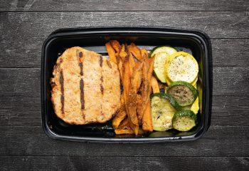 Southwest Turkey Burger with Sweet Potato Fries