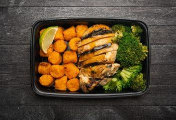 Chipotle Citrus Chicken, Broccoli, Sweet Potato Puffs