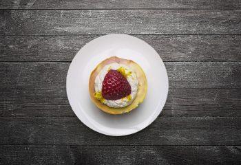 Strawberry Lemonade Protein Cheesecake